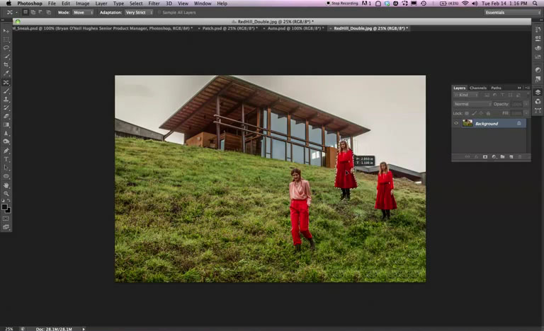 Photoshop CS6  &#8211; Move or Remove an object from an image