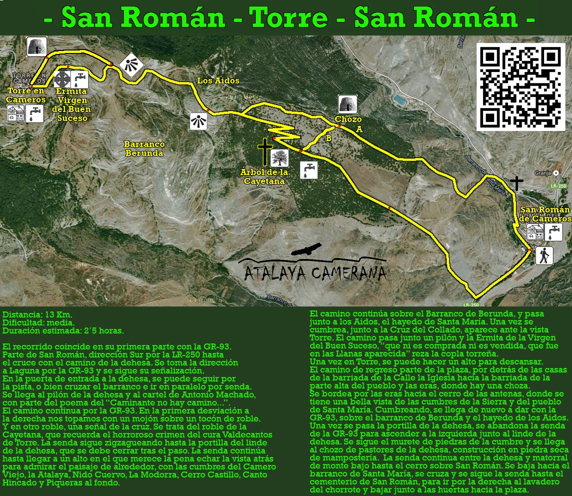 San Román - Torre - Chozo de la dehesa - San Román