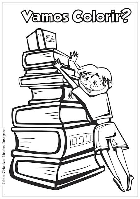 Desenho Dia do Livro Infantil/ Dia do Estudante para colorir