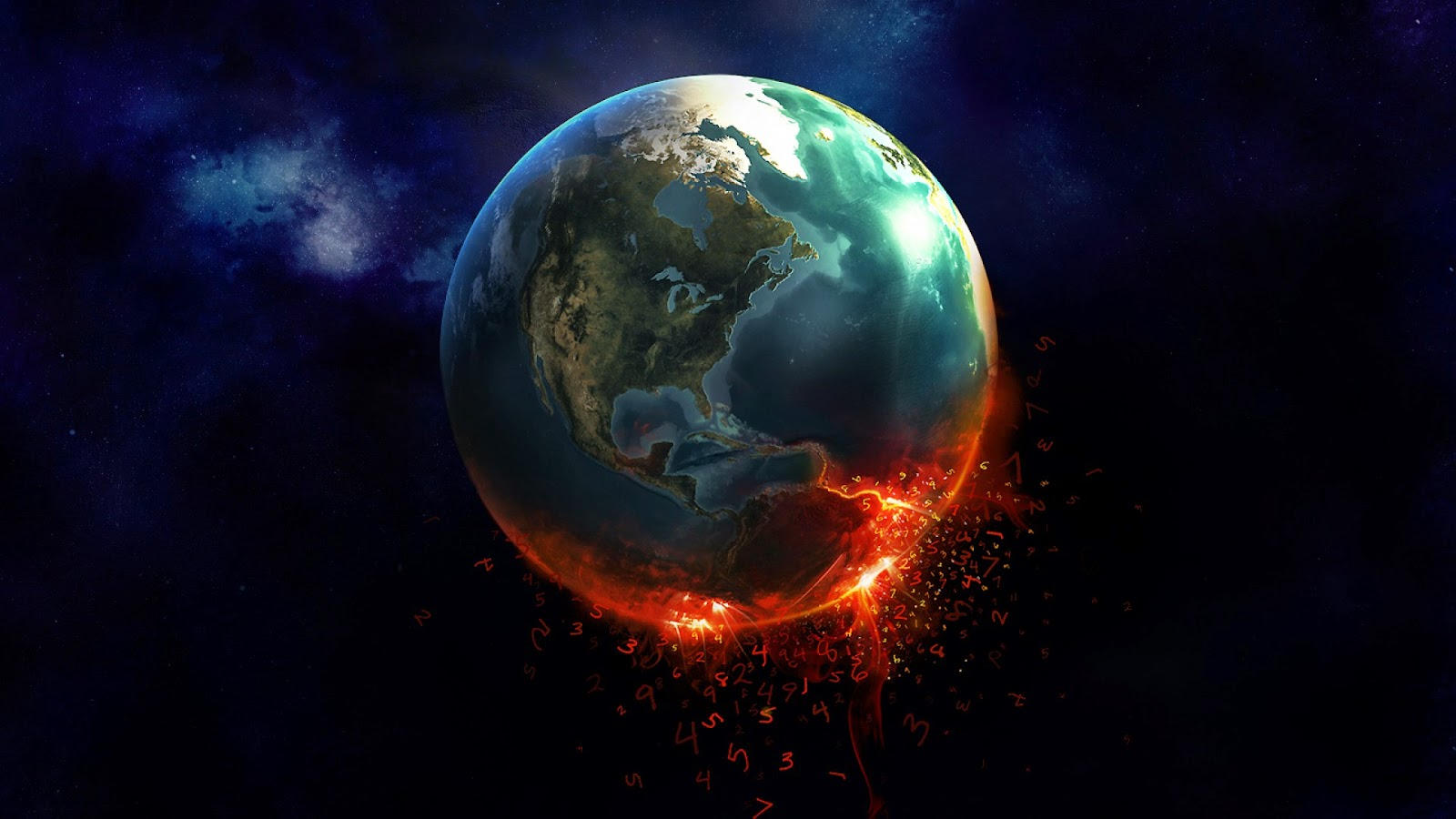 earth fire hd quality desktop wallpaper