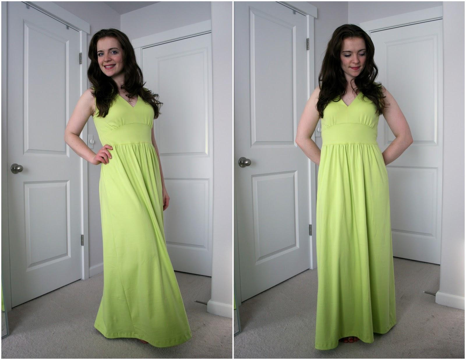 ANOTHER maxi dress--bright limey green / Create / Enjoy