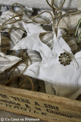 Linen star for a decorating party season