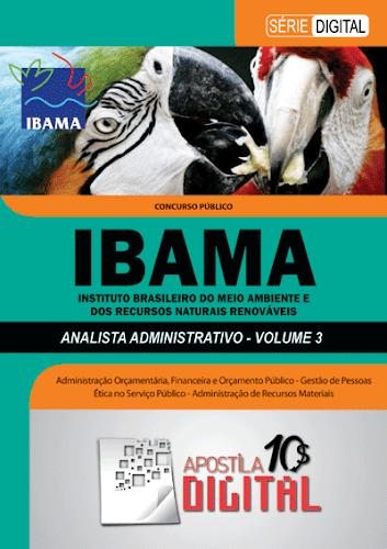 Apostila Digital IBAMA Analista Administrativo - Volume 3 (cod ADIAAV3)