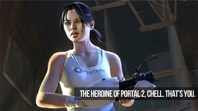 portal 2 chell. portal 2 chell cosplay. portal