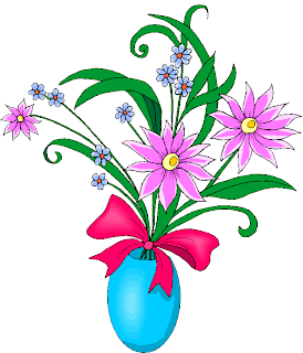 Flowers in a Blue Vase Free Clipart