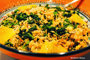 Orange Kale and Wild Rice