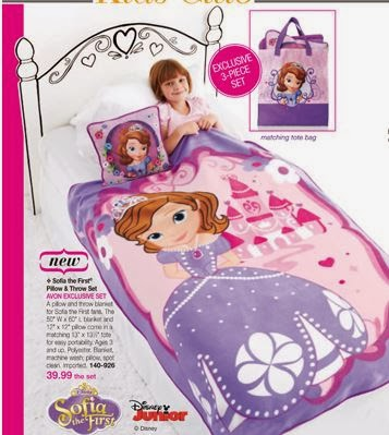 Avon Disney Sofia the First Pillow and Throw set is a perfect gift for young girls