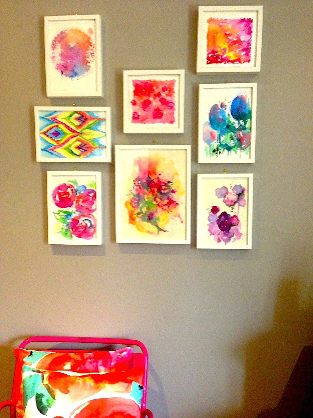 Choosing art for your home - My Watercolors Found New Home In Australia