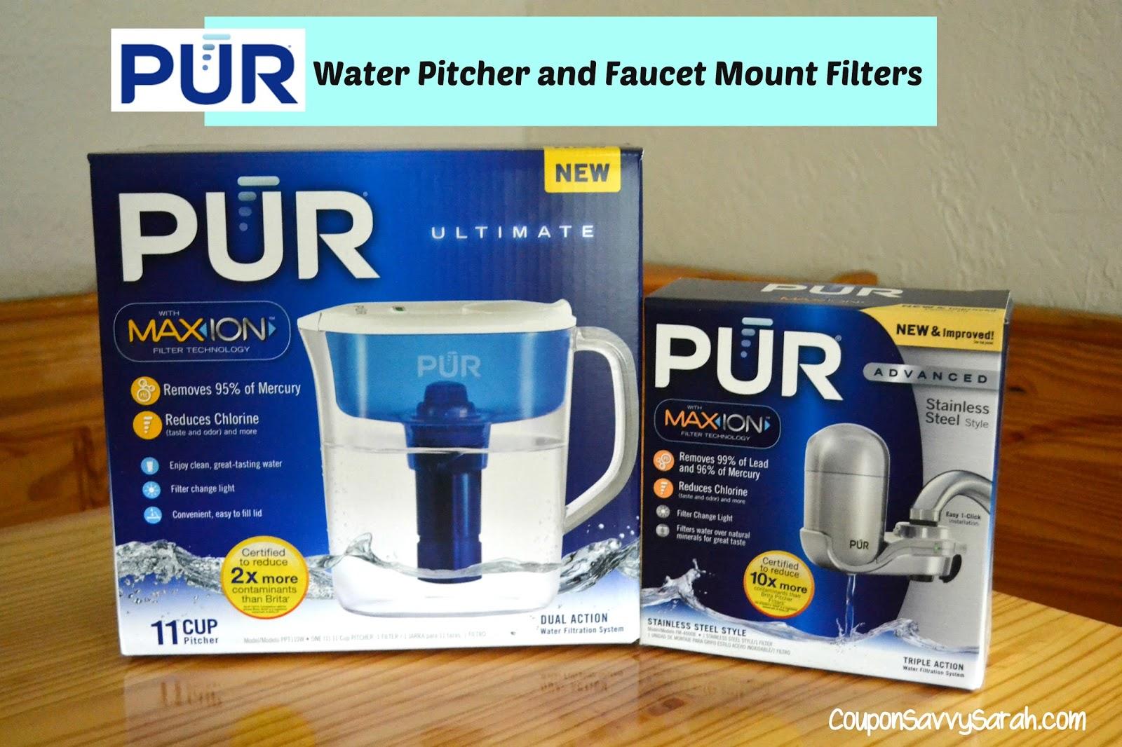 Coupon Savvy Sarah: PUR Water Pitcher and Faucet Mount Filter ...