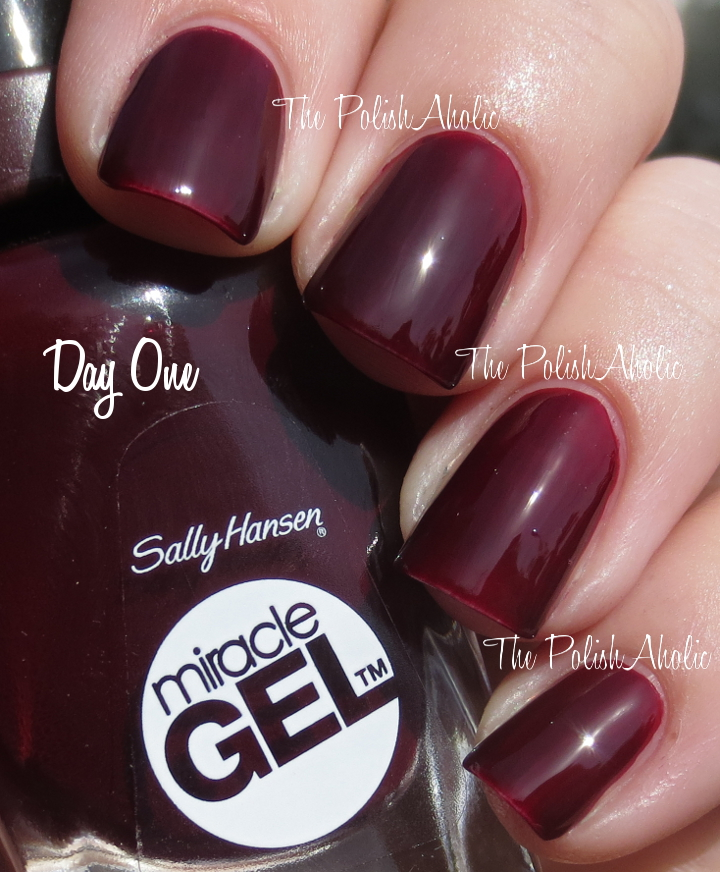 The PolishAholic: Sally Hansen Miracle Gel Wine Stock Swatch, Review ...
