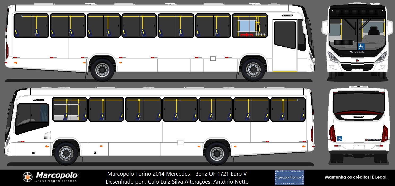 Marco Polo Torino : Desenho de onibus em branco marcopolo torino com interior