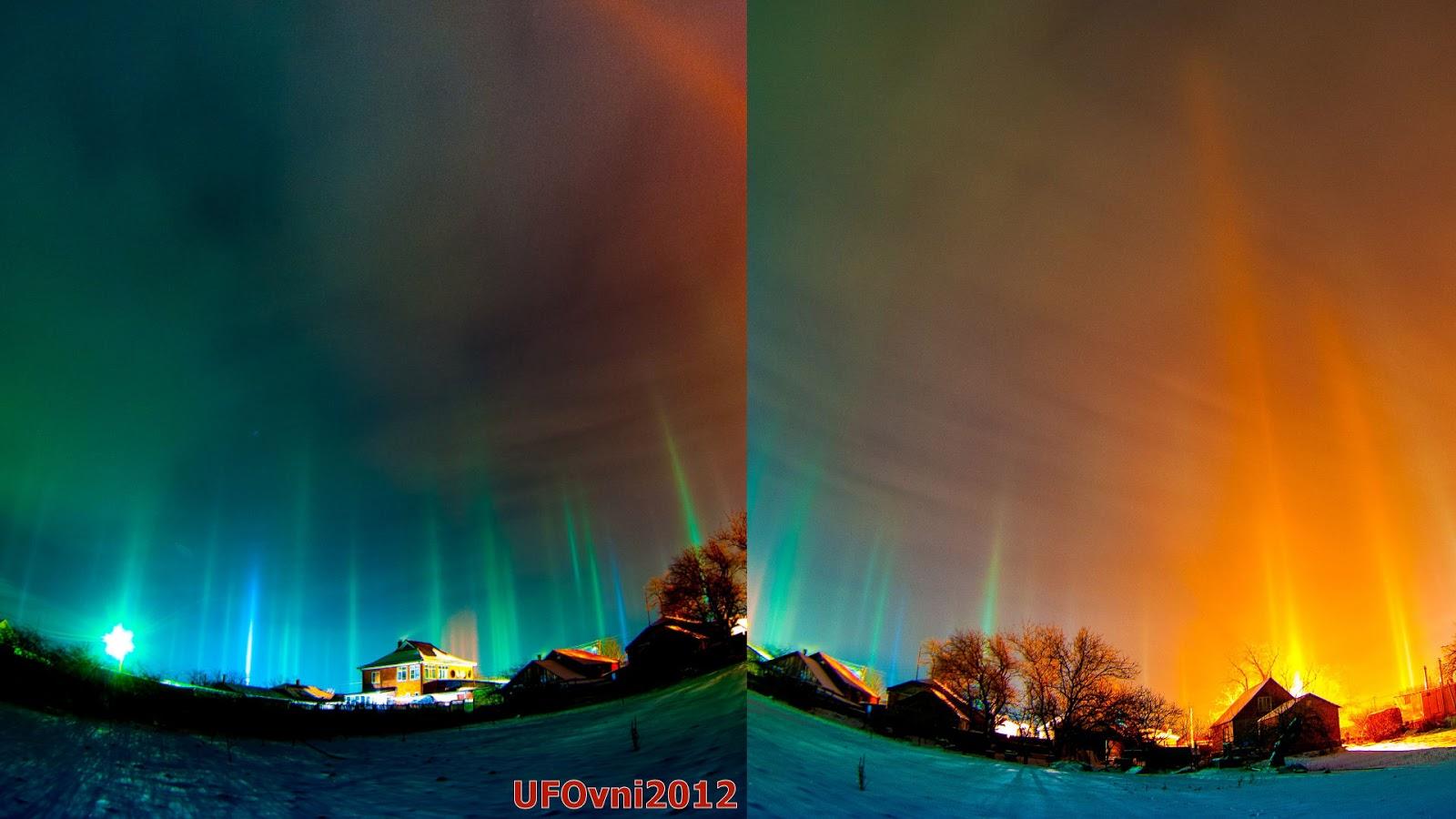 Portails inter-dimensionnels ouvert le ciel de Troitskaya, Russie, Le 5 Janvier 2016