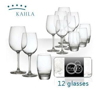 12-teiliges Kwarx-Gläser-Set von Kahla bei iBood für 25,90 Euro
