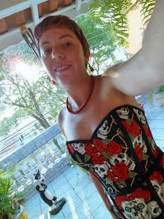 corset caveira