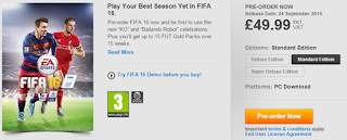 FIFA 16 UK price