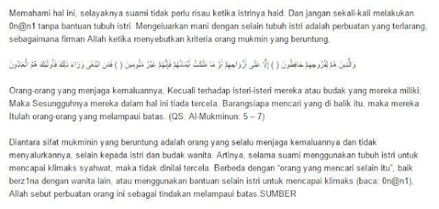 cara paling mantap dan halal memu4 5skan suami saat istri sedang