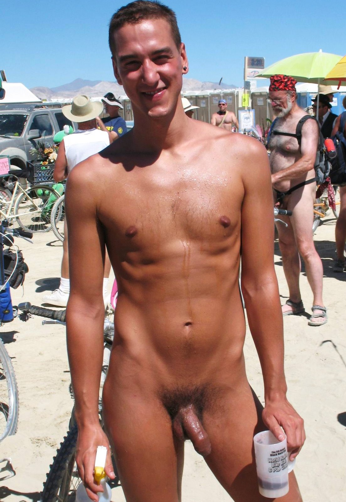 Male With Erection Nude Beach