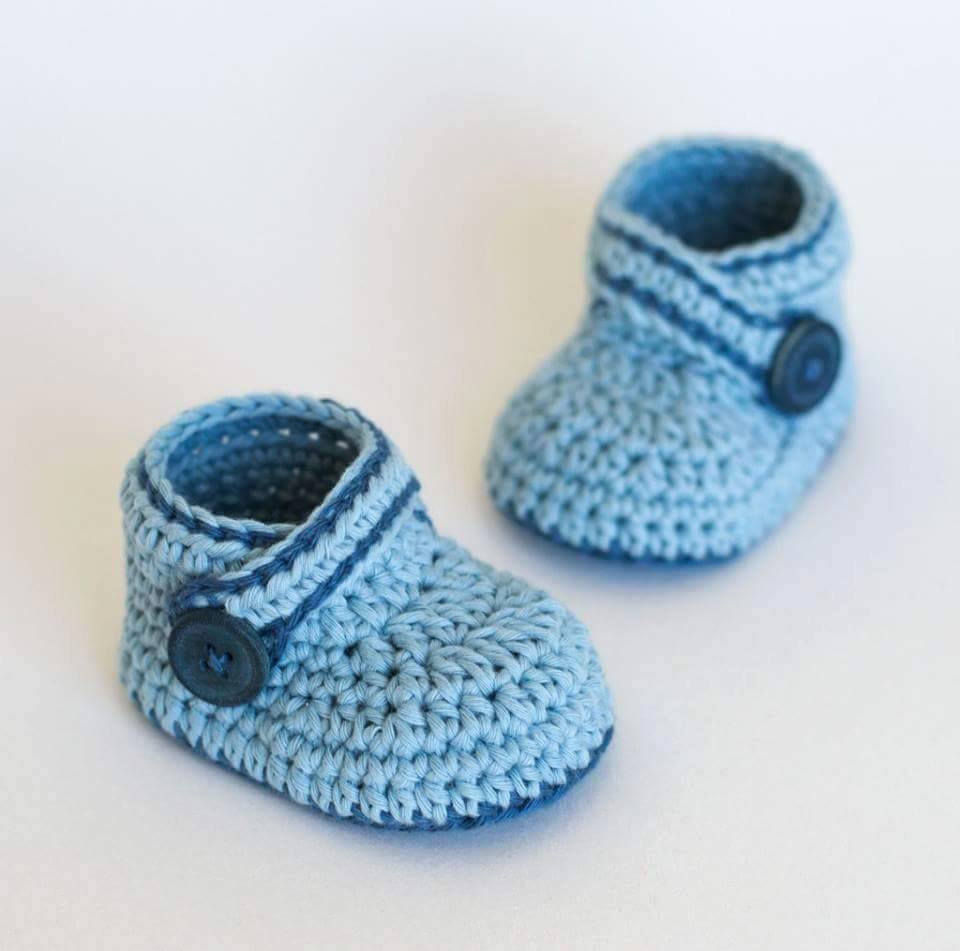 Crochet Tutorial Zapatos Bebe : Tutorial #108: Zapatitos a Crochet - FotoTutorial ~ CTejidas [Crochet ...