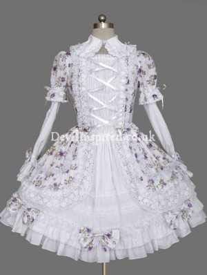 Sweet Flower Printed Rococo Lolita Dresses