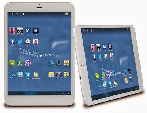 Il nuovo tablet Mediacom da 7,85 pollici pesa solo 320 grammi ed è spesso 7,7 mm