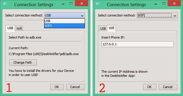 how to connect mobile display to pc