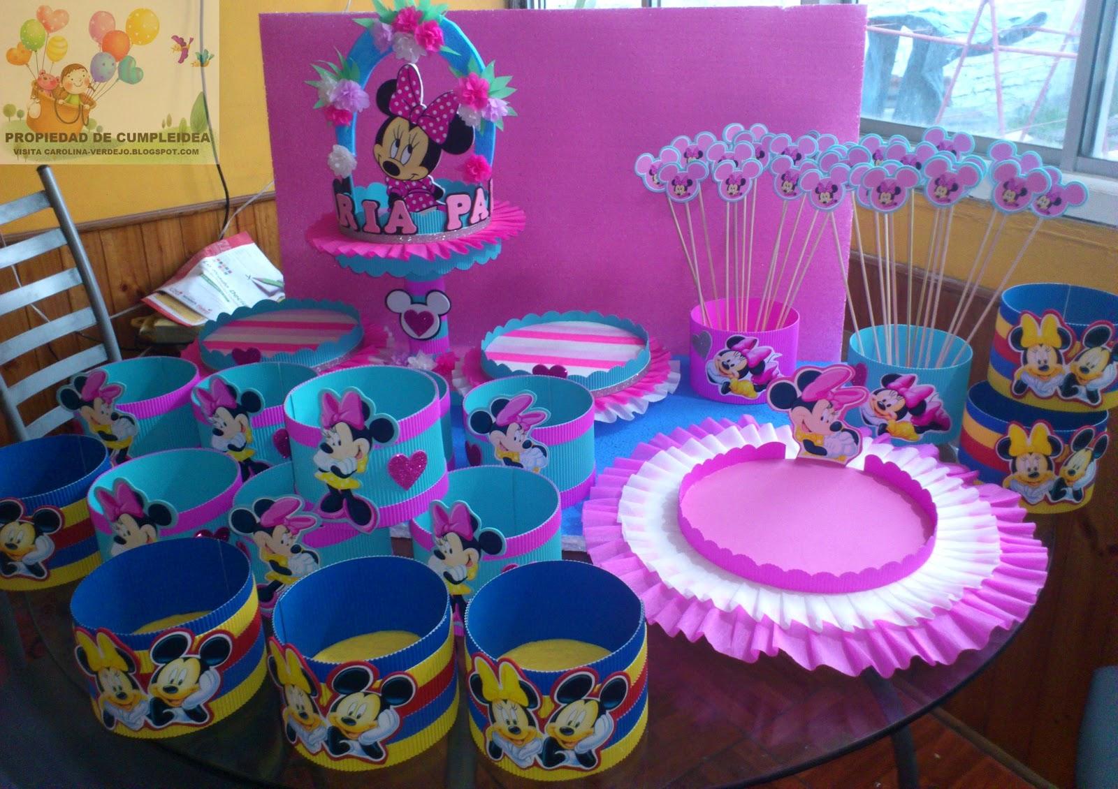 Decoraciones infantiles pack minnie flores - Decoracion cumples infantiles ...