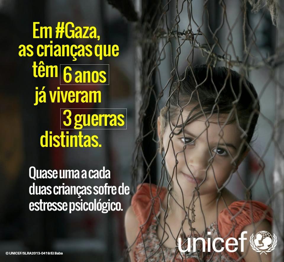 Crianças de 6 anos em Gaza...