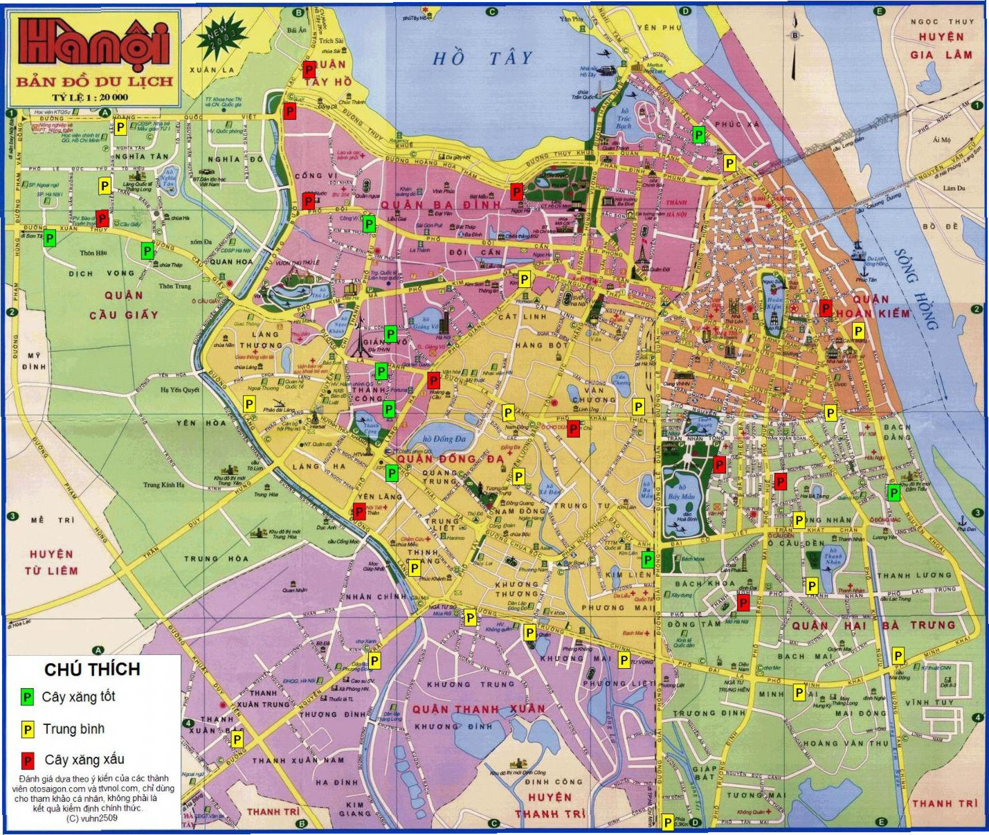 Map of Hanoi Vietnams capital Vietnam – Tourist Attractions Map In Vietnam