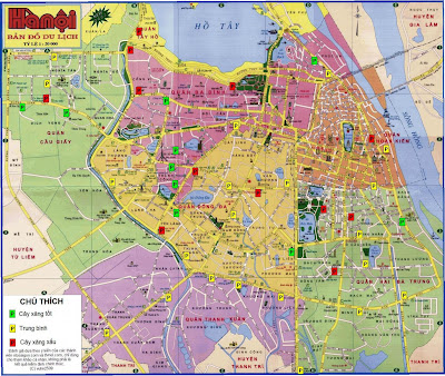 Street plan of the city of Hanoi (Vietnam)