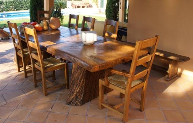 mesas rústicas muebles macizos