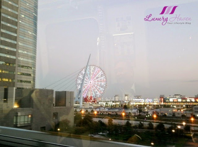 yurikamome palette town ferris wheel odaiba landmark