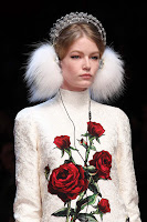 Dolce & Gabbana AW15 x Frends Embellished White Earmuff Headphones | Photo: Marcus Tondo / Indigitalimages.com