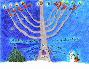 happy hanukkah to all who celebrate it: i drew this for you