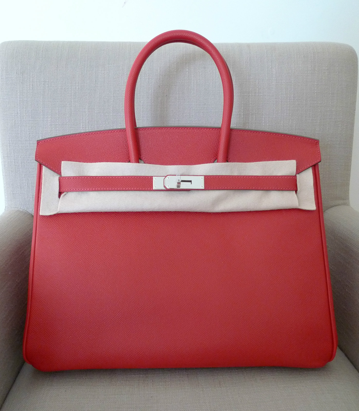 Authentic Labels  New Hermes Birkin 35 Rouge Casaque Candy Red Epsom ... e3812d8f0e