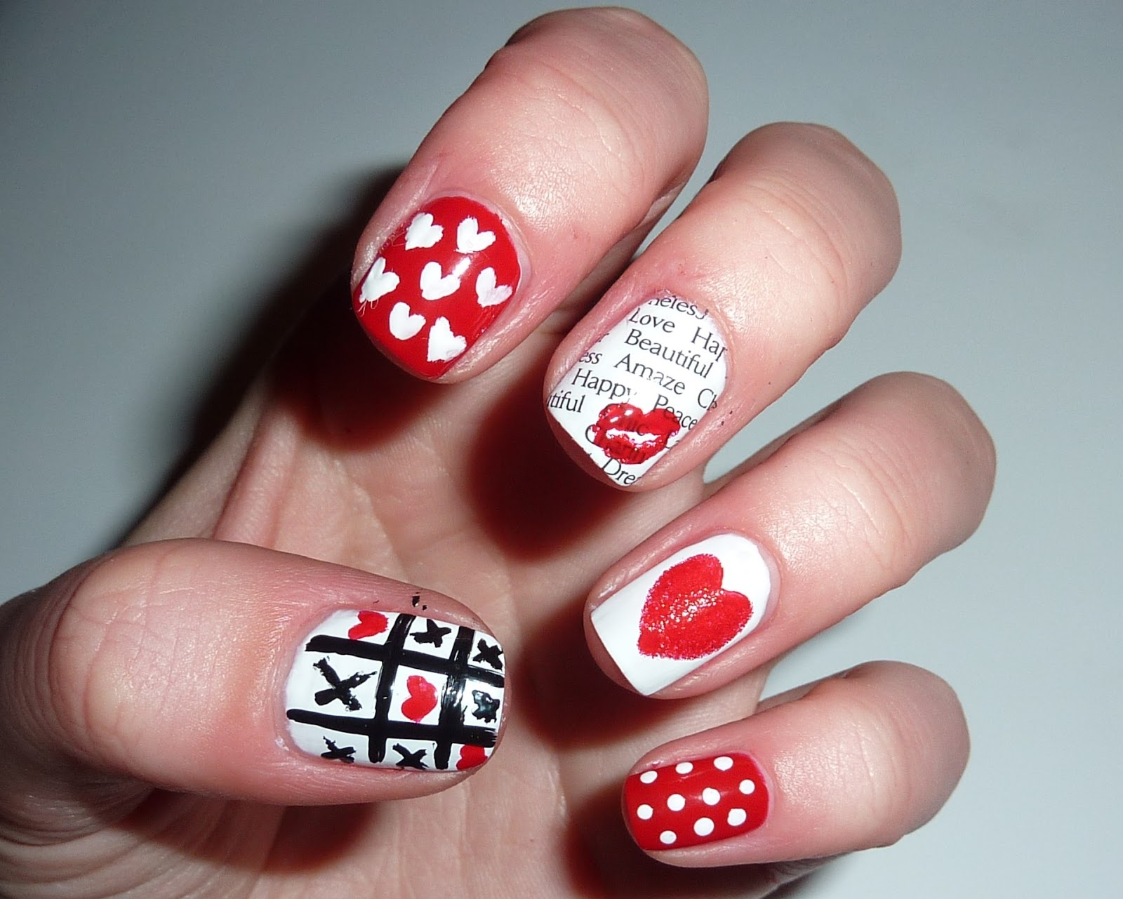 Sophie jenner valentines day nail art i love funky nail art designs as you all know and with it being valentines day today i just couldnt resist doing a valentines day manicure prinsesfo Gallery