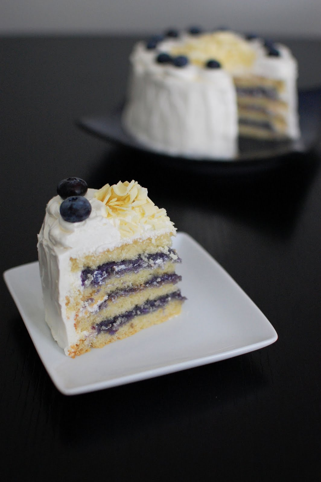 White Chocolate Layer Cake with Blueberry Curd Filling Beantown Baker