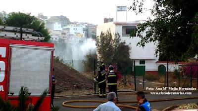 incendio parque Mayordomía, Tamaraceite, Las Palmas de Gran Canaria
