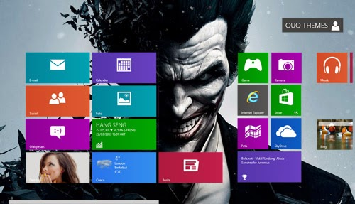 Batman Arkham Origins Theme For Windows 7 And 8 8.1