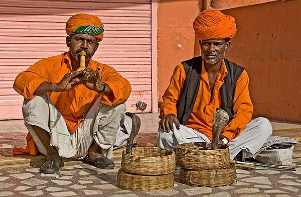 Snake charmer in Jaipur
