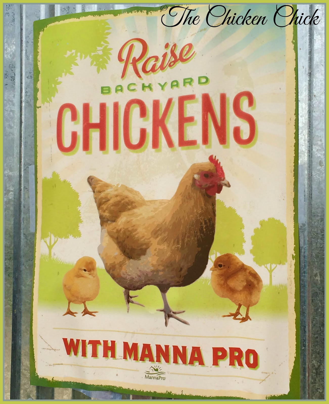 Manna Pro Poultry Raise Backyard Chickens poster giveaway