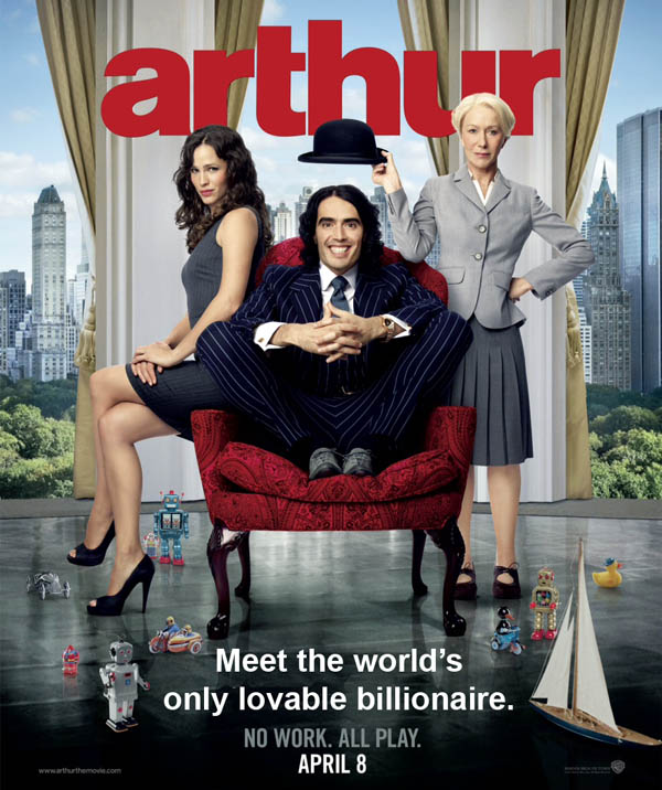 Poster from the movie Arthur - rich people have problems too - Meet the World's Only Lovable Billionaire