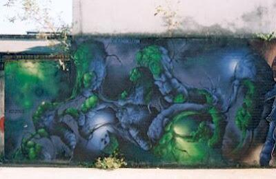 Graffiti wall - Graffiti mural - Graffiti paint