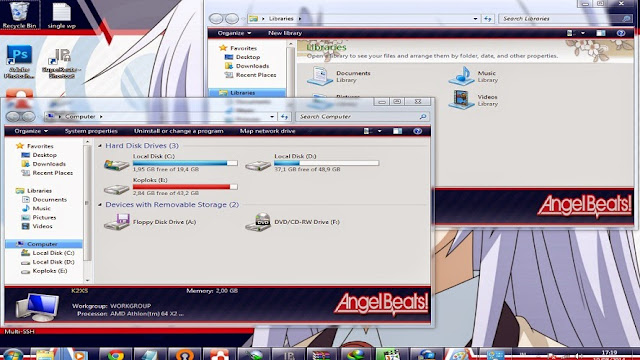 [ Theme Win 7 ] Angel Beats 2