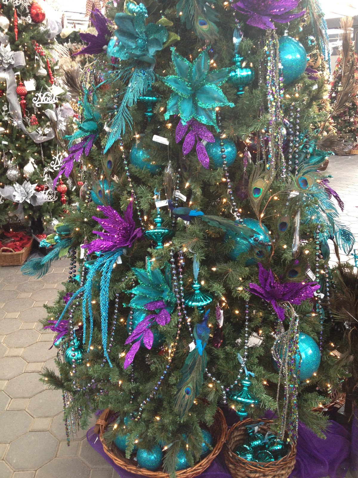 Purple decorated christmas trees - Aqua Purple Christmas Tree
