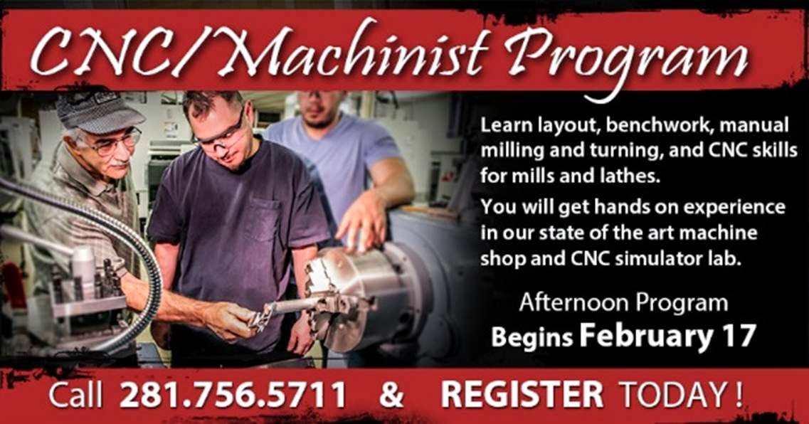 http://www.alvincollege.edu/CEWD/IndustrialTraining/CNCMachinist.aspx