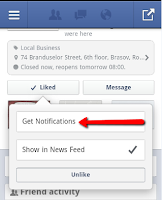 Get Notifications Option on Facebook Business Pages