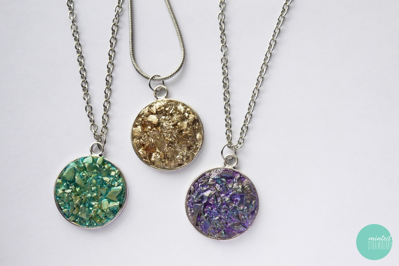 DIY: Faux Druzy Necklace - Minted Strawberry
