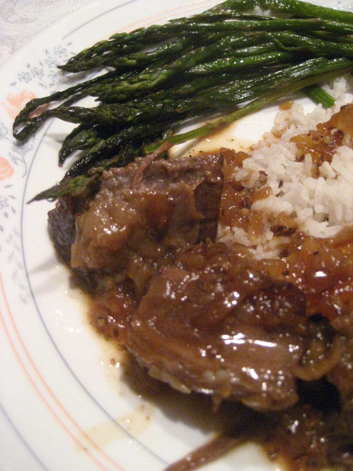 Marie est dans son assiette r ti de boeuf brais l 39 orange et au carvi de ricardo servi par - Cuisiner un roti de boeuf au four ...