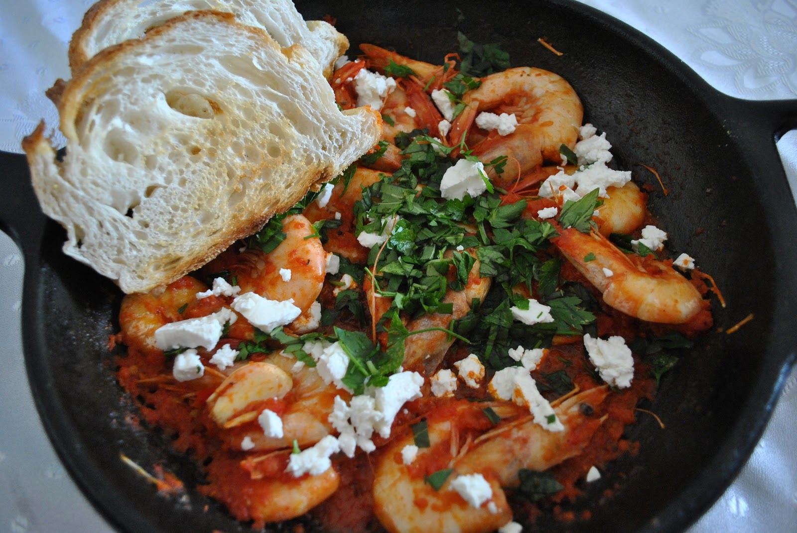 Food To Culture Prawns Saganaki