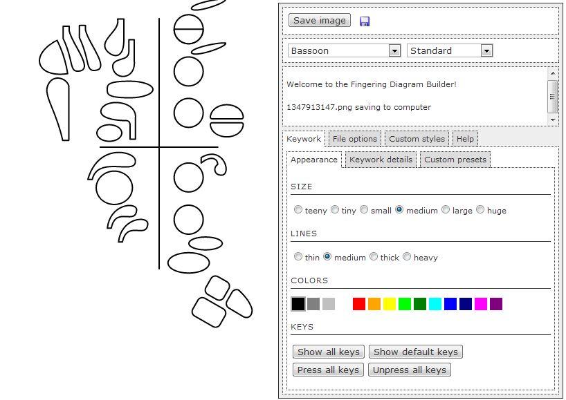 bassoon talk fingering diagram builder : fingering diagram - findchart.co